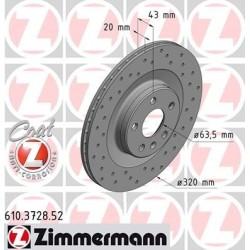 Tarcza hamulcowa przód XC90 II , S90 II, V90 II 17cali (320x20) ZIMMERMANN