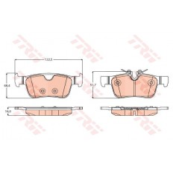 Klocki hamulcowe tył S90 II, V90 II, V60II, XC60 II, XC90 II do tarcz 320mm i 340mm BREMBO