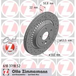 Tarcza hamulcowa tył XC60 ZIMMERMANN