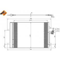 Skraplacz klimatyzacji S60 II, S80 II , V60, V70 III, XC70 II silniki benzynowe NRF
