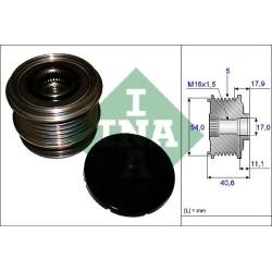 Koło alternatora ze sprzęgiełkiem S60 II, S80 II, V60, V70 II, XC60, XC70 II 58,5mm INA